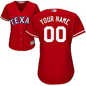 Majestic Women's Custom Cool Base Replica Texas Rangers Alternate Red Jersey