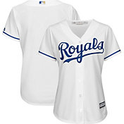 Majestic Women's Replica Kansas City Royals Cool Base Home White Jersey