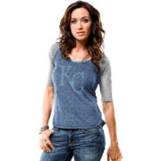 Majestic Women's Kansas City Royals Royal/Grey Raglan Half-Sleeve Shirt