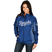Majestic Women's Kansas City Royals Double Climate On-Field Royal Jacket