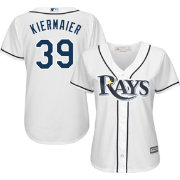 Majestic Women's Replica Tampa Bay Rays Kevin Kiermaier #39 Cool Base Home White Jersey