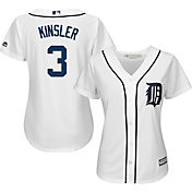 Majestic Women's Replica Detroit Tigers Ian Kinsler #3 Cool Base Home White Jersey