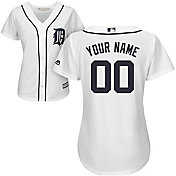 Majestic Women's Custom Cool Base Replica Detroit Tigers Home White Jersey