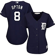 Majestic Women's Replica Detroit Tigers Justin Upton #10 Cool Base Alternate Navy Jersey