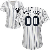 Majestic Women's Custom Cool Base Replica New York Yankees Home White Jersey