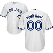 Majestic Youth Custom Cool Base Replica Toronto Blue Jays Home White Jersey