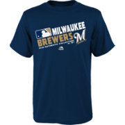 Majestic Toddler Milwaukee Brewers Authentic Collection Navy T-Shirt