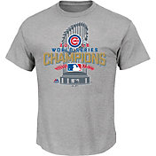 Majestic Boys' 2016 World Series Champions Locker Room Chicago Cubs Grey T-Shirt