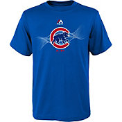 Majestic Youth Chicago Cubs Kenetic Logo Royal T-Shirt
