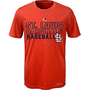 Majestic Youth St. Louis Cardinals Cool Base Geo Plex Red T-Shirt