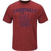 Majestic Youth St. Louis Cardinals Logo Heathered Red T-Shirt