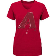 Majestic Youth Girls' Arizona Diamondbacks Red Tri-Blend V-Neck T-Shirt