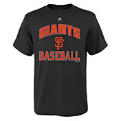 "Majestic Youth San Francisco Giants Black ""Giants Baseball"" T-Shirt"