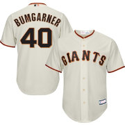 Majestic Youth Replica San Francisco Giants Madison Bumgarner #40 Cool Base Home Ivory Jersey
