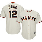 Majestic Youth Replica San Francisco Giants Joe Panik #12 Cool Base Home Ivory Jersey