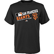 Majestic Boys' San Francisco Giants Authentic Collection Black T-Shirt
