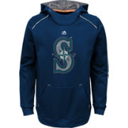 Majestic Youth Seattle Mariners Navy Paramount Pullover Hoodie