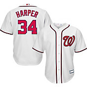 Majestic Youth Replica Washington Nationals Bryce Harper #34 Cool Base Home White Jersey