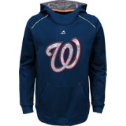 Majestic Youth Washington Nationals Navy Paramount Pullover Hoodie