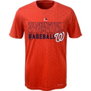 Majestic Youth Washington Nationals Cool Base Geo Plex Red T-Shirt