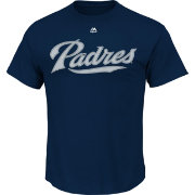 Majestic Youth San Diego Padres Official Wordmark Navy T-Shirt