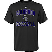 "Majestic Youth Colorado Rockies Black ""Rockies Baseball"" T-Shirt"