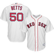 Majestic Youth Replica Boston Red Sox Mookie Betts #50 Cool Base Home White Jersey