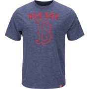 Majestic Youth Boston Red Sox Logo Heathered Navy T-Shirt