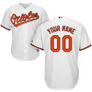 Majestic Youth Custom Cool Base Replica Baltimore Orioles Home White Jersey