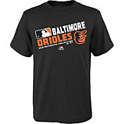 Majestic Youth Baltimore Orioles Authentic Collection Black T-Shirt