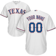 Majestic Youth Custom Cool Base Replica Texas Rangers Home White Jersey
