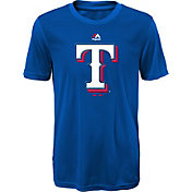 Majestic Youth Texas Rangers Cool Base Geo Strike Royal T-Shirt