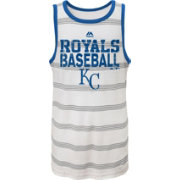 Majestic Youth Kansas City Royals National Pride White Striped Tank