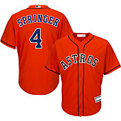 Majestic Youth Replica Houston Astros George Springer #4 Cool Base Alternate Orange Jersey