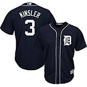 Majestic Youth Replica Detroit Tigers Ian Kinsler #3 Cool Base Alternate Navy Jersey