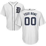 Majestic Youth Custom Cool Base Replica Detroit Tigers Home White Jersey