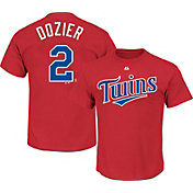 Majestic Youth Minnesota Twins Brain Dozier #2 Red T-Shirt