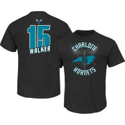 Majestic Youth Charlotte Hornets Kemba Walker #15 Black T-Shirt