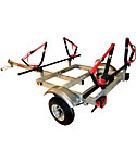 Malone XtraLight J-Rack 2-Kayak Trailer Package