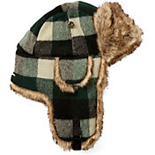 Mad Bomber Men's Green Buffalo Plaid Wool Trapper Hat