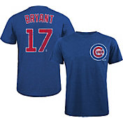 Majestic Threads Men's Chicago Cubs Kris Bryant #17 Royal T- Shirt