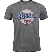Majestic Threads Men's Texas Rangers Grey Tri-Blend T-Shirt