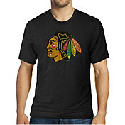 Majestic Threads Men's Chicago Blackhawks Black Crest T-Shirt