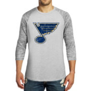 Majestic Threads Men's St. Louis Blues Charcoal Marble 3/4 Sleeve Raglan T-Shirt