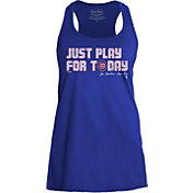 "Majestic Threads Women's Chicago Cubs ""Just Play For Today"" Royal Tank Top"