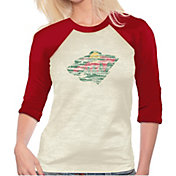 Majestic Threads Women's Minnesota Wild Three-Quarter Raglan Sleeve T-Shirt