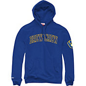 "Mitchell & Ness Men's Milwaukee Brewers ""Brew Crew"" Royal Pullover Hoodie"