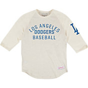 Mitchell & Ness Men's Los Angeles Dodgers White Three-Quarter Raglan Sleeve Shirt