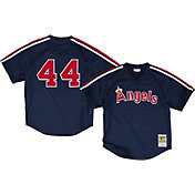 Mitchell & Ness Men's Replica California Angels Reggie Jackson Navy Cooperstown Batting Practice Jersey