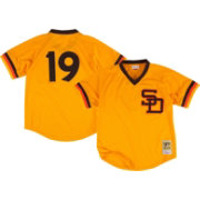 Mitchell & Ness Men's Replica San Diego Padres Tony Gwynn Gold Cooperstown Batting Practice Jersey